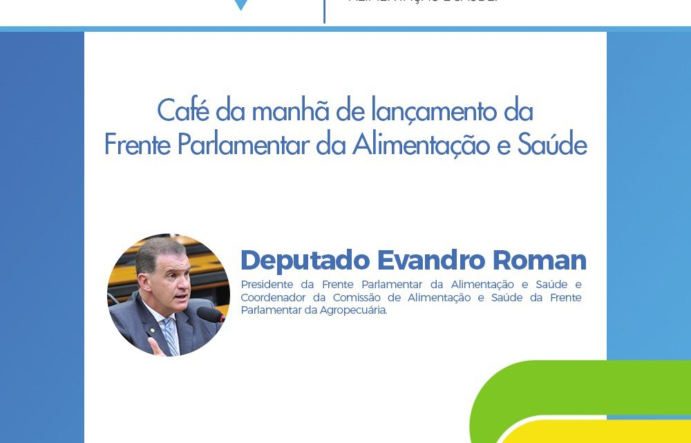 Prof. Sandro Lucas Sofiati e Ginasium Tecnologia são convidados a participar da FRENTE  PARLAMENTAR DE ALIMENTAÇÃO E SAÚDE 2019.